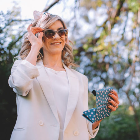 Classic Ombre Shades & Green Dotted Sunglass Case