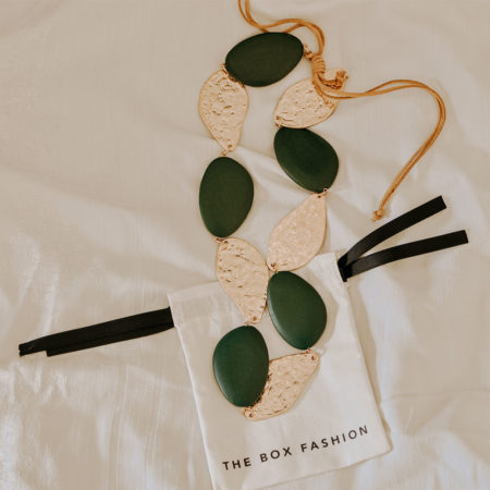Jade & Gold Pebble Necklace