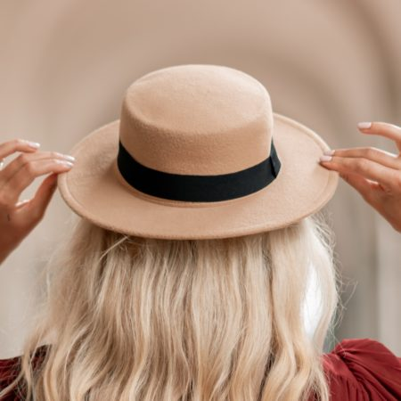 Pale Boater Hat