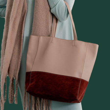 Two-Toned Berry Tote
