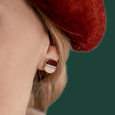 Two-Toned Silver Studs