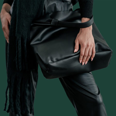 Black Knotted Bucket Bag