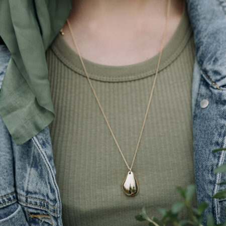 Gold Dollop Necklace